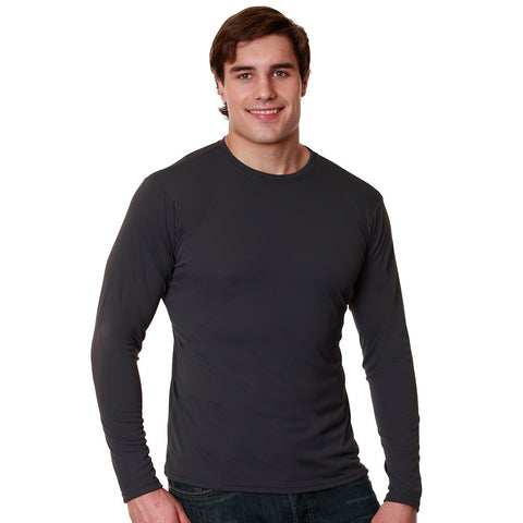 Nozone Sun Safe UPF 50+ Men's long sleeved Versa-T - charcoal
