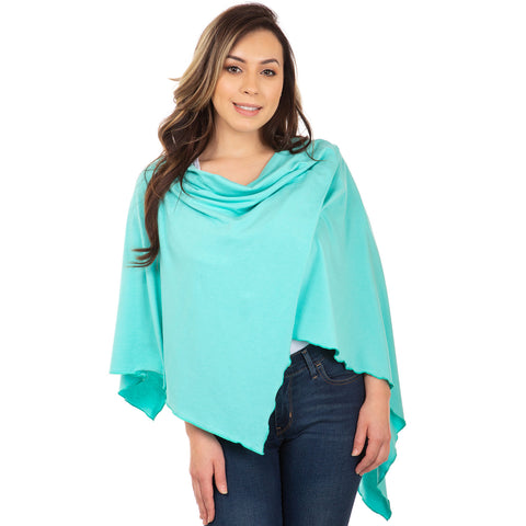 Nozone womens uv sun blocking sun shawl wrap turquoise teal bali hai
