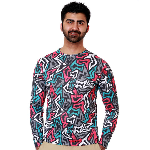 Nozone upf 50+ mens long sleeve athletic shirt - skater print