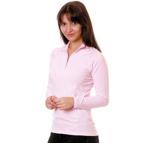 Nozone umbria sun protective womens equestrian shirt pink
