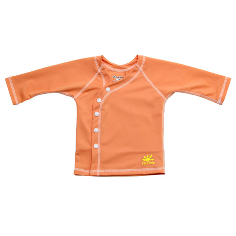 Nozone baby girls beach wrap sun protection cover-up shirt upf 50+ peach