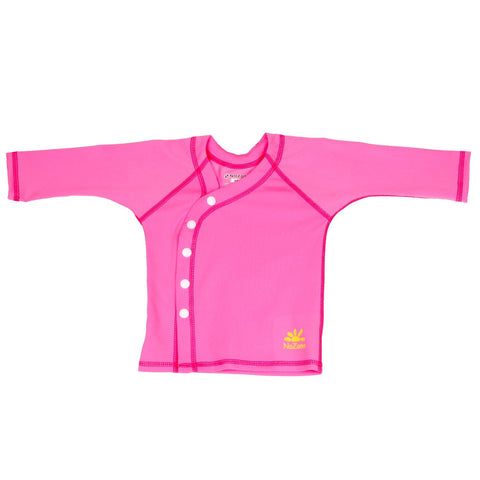 Nozone baby girls beach wrap sun protection cover-up shirt upf 50+ pink