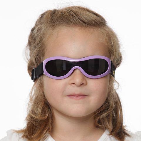 Nozone's Kids UV400 sun shades with elasticized strap