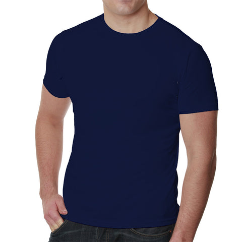 Navy upf 50+ mens performance shirt by Nozone