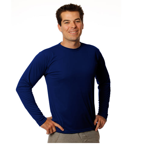 Nozone mens sun protective sports athletic shirt -navy