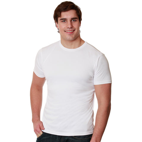 Sun Protective men's versa short sleeved shirt in White by Nozone breathable lightweight