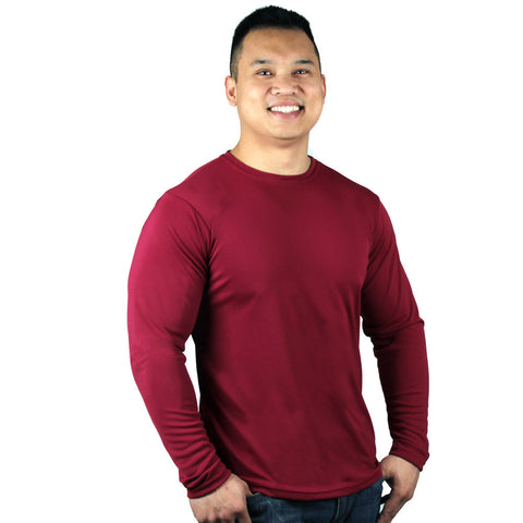 Nozone UPF 50+ Men's Versa-T long sleeved - Red