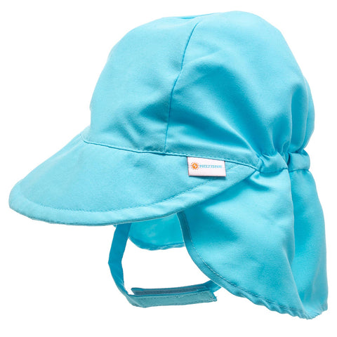 Nozone baby boy blue sun flap hat for beach or swimming