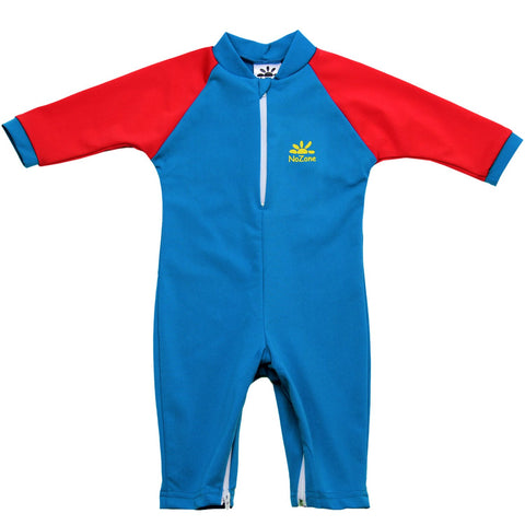 nozone baby boy fiji sun protective uv upf 50 breathable baby swimsuit onesie blue red