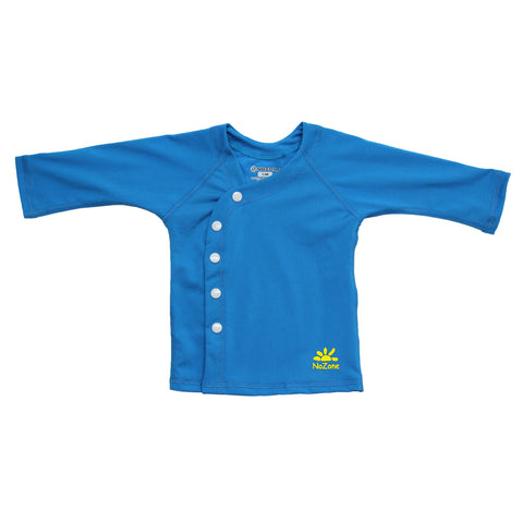 Nozone baby boys beach wrap sun protection cover-up shirt upf 50+ blue