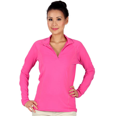 nozone tuscany womens long sleeve uv protective equestrian tuscany shirt - pink breathable