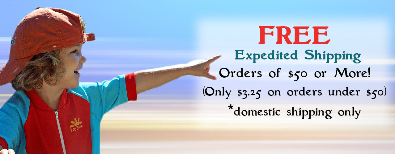 Free expedited shipping on orders over $50