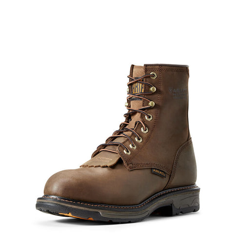 "Men's Ariat WorkHog 8"" Waterproof Composite Toe Work Boot, 10011943"