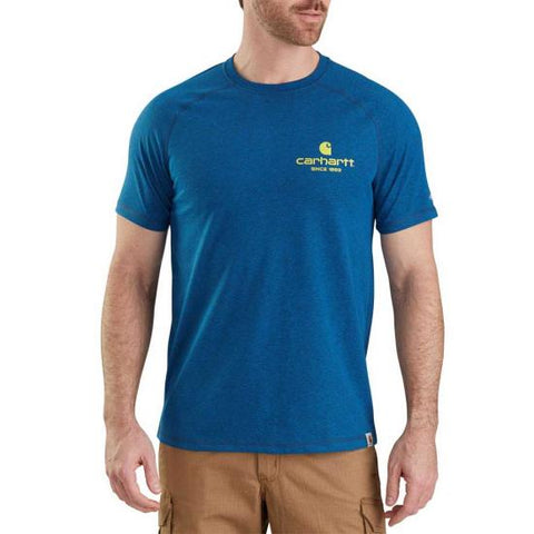 Men's Carhartt Royal Blue Force Delmont 89 T-Shirt, 103184 446