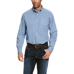 Men's Ariat Bright Cobalt Uchino Stretch Classic Fit Shirt, 10028095