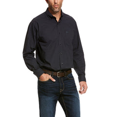 Men's Ariat Black Pro Series Ulrich Stretch Classic Fit Shirt, 10028208