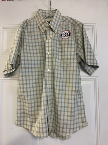Boy's Wrangler Plaid SS Button Down Shirt, BR4048A
