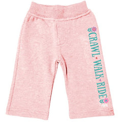 Girl's Farm Girl Pink Crawl Walk Ride Sweatpants