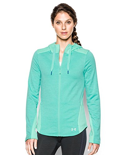 Women's Under Armour Aqua Green Damen Expanse Full Zip Hoodie, 1259524 960