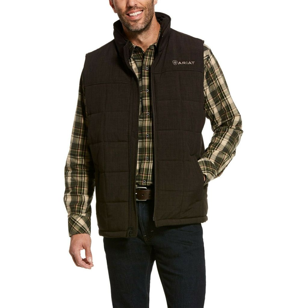Men's Ariat Espresso Heather Crius Vest, 10028380