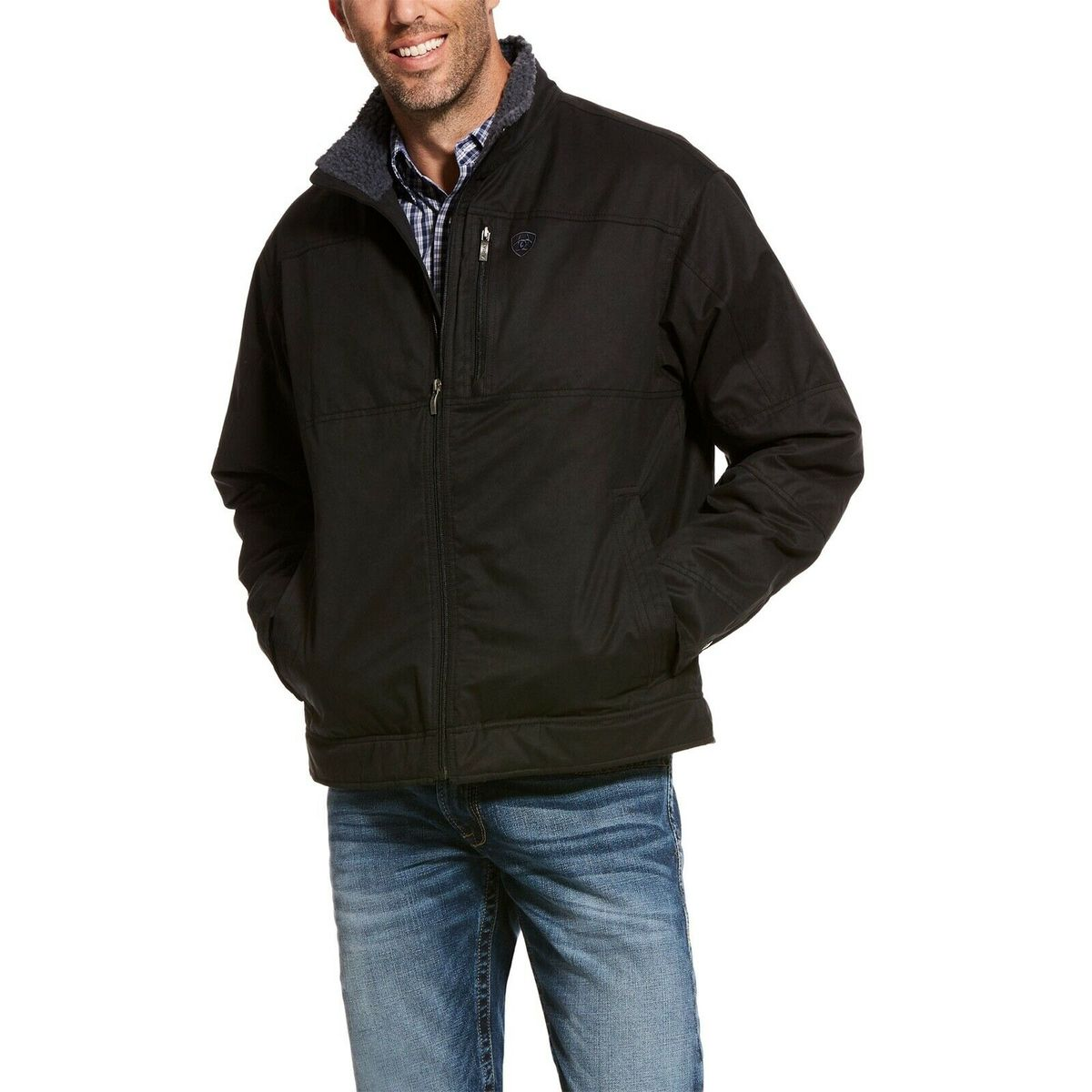Men's Ariat Black Grizzly Canvas Jacket, 10028395