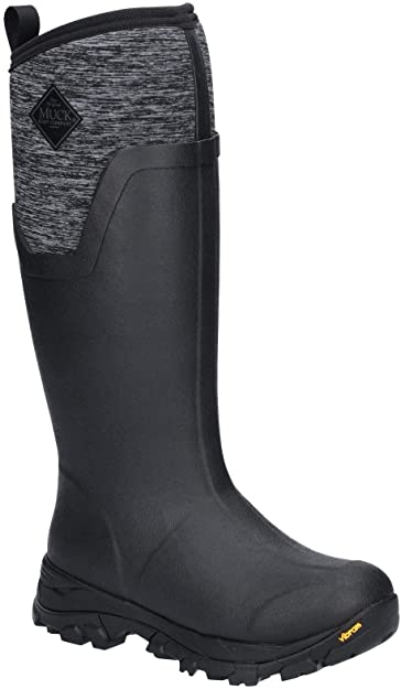 Women's Black / Heather Jersey Arctic Ice Tall Winter Muck Boots, AS2TV - 100