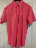 Men's Cinch Pink Pattern SS Button Down Shirt, MTW1111261