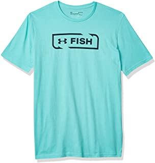 Men's Under Armour Teal Blue / Navy Fish Icon SS T-Shirt, 1321672 425