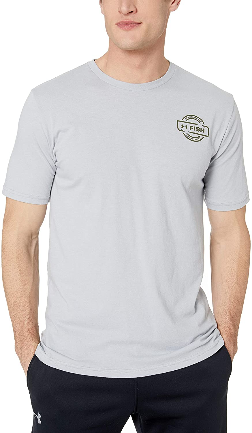 Men's Under Armour Light Grey Vintage Walleye T-Shirt, 1328148 011