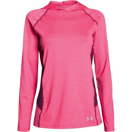 Women's Under Armour Pink / Purple CoolSwitch Trail Hoodie, 1271614 962