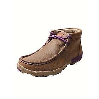 Women's Twisted X Purple Bomber Shoes, WDM0015
