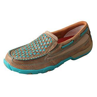 Women's Twisted X Turquoise Bomber Shoes, WDMS006