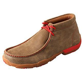 Men's Twisted X Red Bomber Shoes, MDM0036