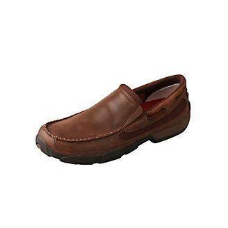 Men's Twisted X Brown Driving Mocs, MDMS009