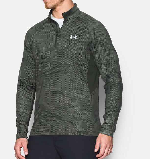 Men's Under Armour Artillery Green / Foliage Green CoolSwitch Thermocline 1/4 Zip, 1271470 176