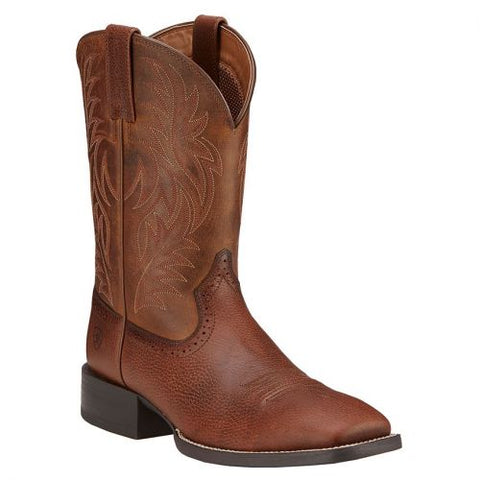 Men's Ariat Sport Wide Square Toe Western Boot, 10016291