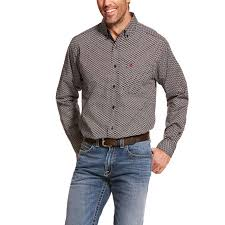 Men's Ariat Black Dalporto Classic LS Shirt,10028819