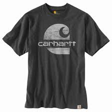 Men's Carhartt Carbon Heather Original Fit Heavyweight SS Logo Graphic T-Shirt, 104387 CRH
