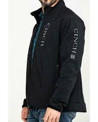 Men's Cinch Black Bonded Concealed Carry Textured Jacket, MWJ1043014