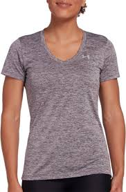 Women's Under Armour Dark Purple Tech Twist V-Neck Top, 1258568 057