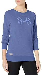 Women's Under Armour Talc Blue Threadborne Shoreline Crew Sweatshirt, 1304869 586