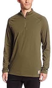 Men's Carhartt Forrest Green Delmont 1/4 Zip, 101452 316