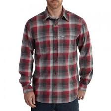 Men's Carhartt Red Plaid LS Button Down Shirt, 101754 608
