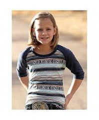 Girl's Cruel Girl Stripe 3/4 Sleeve T-Shirt, CTK3530006