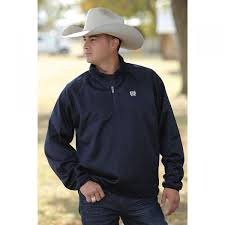 Men's Cinch Navy 1/4 Zip Pullover, MWK1076001