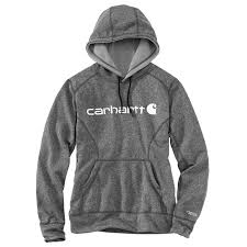 Women's Carhartt Grey Force Signature Graphic Hoodie, 102185 013
