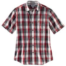 Men's Carhartt Red Plaid SS Shirt, 103004 608