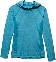 Women's Under Armour Blue CoolSwitch Trail Hoodie, 1271614 908