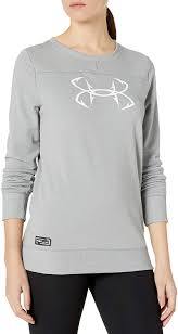 Women's Under Armour Steel Threadborne Shoreline Crew Sweatshirt, 1304869 035