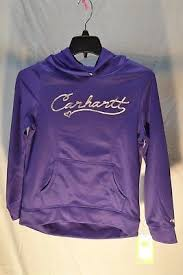 Girl's Carhartt Purple Fleece Pullover Hoodie, CA9521 L106